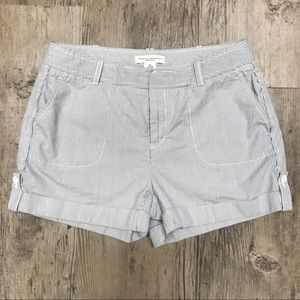Martin fit blue and white striped shorts